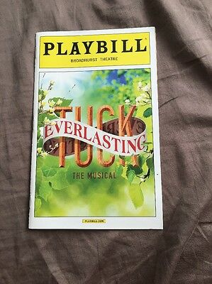 Tuck Everlasting Playbill from Previews!