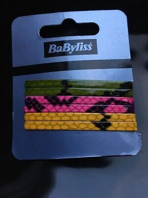 Babyliss Pack Hair Clip Hair Pin Clips Mixed Colours Gift Snake Skin Look