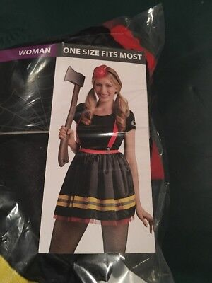 Halloween Costume Woman's FireFighter Tutu Kit One Size Fits Most