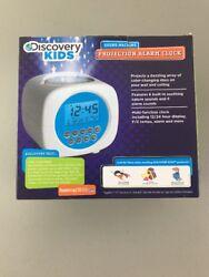 "Discovery Kids Digital Alarm Clock Sound Machine Color Projection ""D"""
