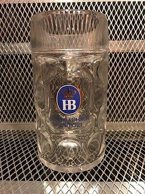 HOFBRAUHAUS NEWPORT ~ 1 Liter ~ LARGE Dimpled RASTAL Beer Mug Munich Germany
