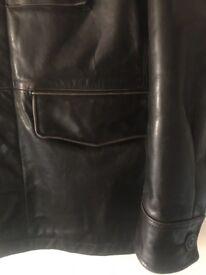 Gap Men's leather jacket vintage fight club field jacket WW2 heavy military