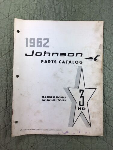 1962 JOHNSON OMC PARTS CATALOG LIST MANUAL - 3 HP MODELS P/N 378821 DEALER