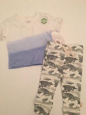 Burts Bees Baby Boy Organic Shirt Pants Outfit Size Newborn 3 6 9 Months Camo