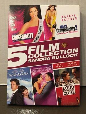 5 Film Collection  Sandra Bullock  Dvd  2015  5 Disc Set  Miss Congeniality New