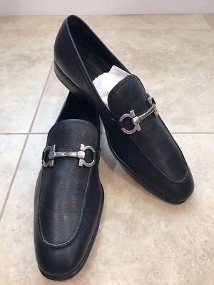 Salvatore Ferragamo Rigel Leather Loafers Size  10 D Black Retail  595