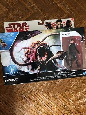 Star Wars EP8 Force Link Rathtar and Bala-Tik 3.75 Inch 2-Pack Action- & Spielfiguren