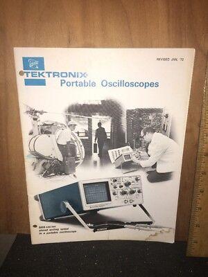 Tektronix Portable Oscilloscopes January 72 Brochure.