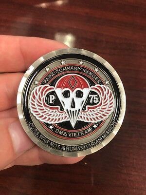 Very Limited Mint Papa Company Ranger 75th Infantry Airborne Challenge Coin.