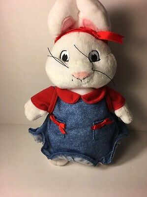 Rare Max & Ruby Ruby Plush Toy Bunny With Backpacks Cute Nick JR TV Cartoon