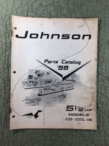 1959 JOHNSON OMC PARTS CATALOG LIST MANUAL - 5.5 HP MODELS P/N 377805 DEALER