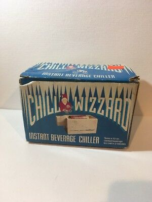 Vintage 1992 Chill Wizzard Instant Beverage Chiller New In Box NIB