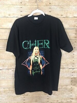 Cher Farewell Tour 2003 T Shirt Two Sided Concert Tee Never Worn SZ L : B19