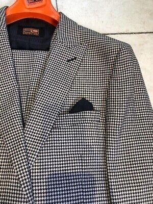 NWT STEVEN LAND Men's Multi Color Wool 3pc. Classic Suit One Button Size 56L