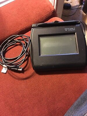 Topaz Signature Capture Pad - 4x3 Lcd Display Model T-lbk755-bhsb-r