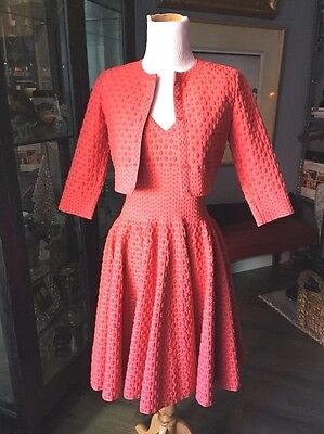 Alaia Absolutely Stunning Apricot Ensemble 38 In Unworn Condition