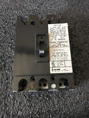 Challenger Cb3200 Circuit Breaker 200a 240v 3 Pole Reconditioned Good Condition