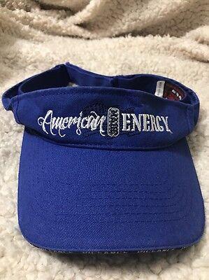 American Made Energy Blue Natural Gas Golf Sun Visor Cap Hat Piceance