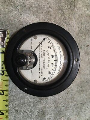 Vtg Panel Meter Boatanchor Transmitter Weston 0-100 Radio Rf Current Me326
