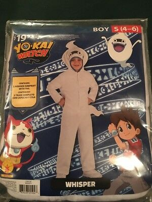 Halloween Costume Boy Yo Kai Watch Whisper Small 4-6 New (Watch Halloween 6)