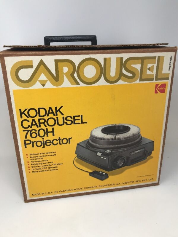 Kodak Carousel 760H Slide Projector With Remote, Stack Loader