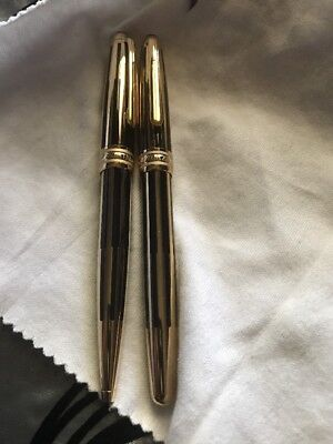 Montblanc Meisterstuck Black And Gold Solitare