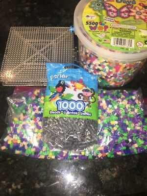 Assorted colors Perler Beads, Peg Boards, Ironing papers lot READ DESCRIPTION](Perler Bead Paper)