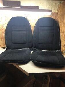 1978 Trans Am Firebird Formula Black Custom Cloth Bucket Seats Covers Pair PUI