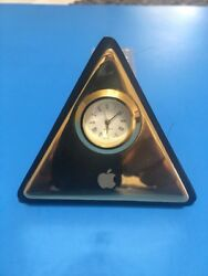 Vintage Apple Computer Exec Brass Desk Clock Watch RARE