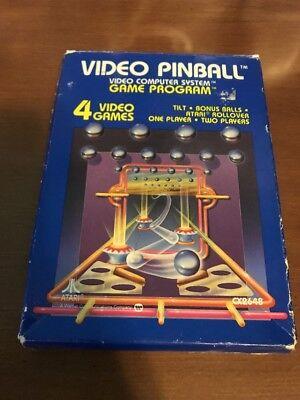 VIDEO PINBALL - ATARI 2600 ** COMPLETE IN BOX CIB - TESTED **