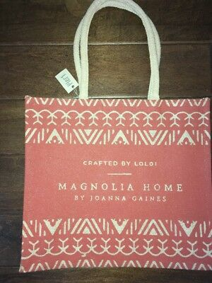 Magnolia Home Joanna Gaines Crafted Loloi Tote Shopping Bag  NWT by Pier 1