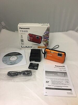 "Panasonic TS25 Waterproof Digital Camera w/ 2.7"" LCD (orange)"