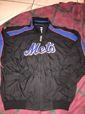 Majestic MLB Authentic New York Mets Dugout Jacket Youth L MLB Sewn Pro