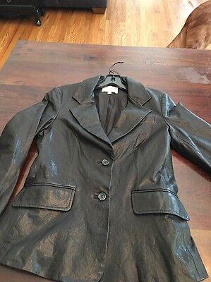And 1 Leather Blazer (Elizabeth and James Black Leather Blazer jacket Size 6)