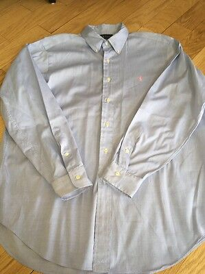 Ralph Lauren Men's Chambray Button Down Shirt Size 16 1/2-34/35