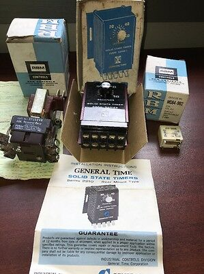 RBM Controls General Time Timer VTG 1960's Industrial Electrical Lot