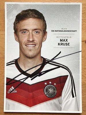 Max Kruse 1. AK DFB 2014 Autogrammkarte original signiert