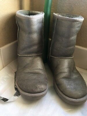 ugg australia boots silver Gray superb Condition  clean inside Out Condition 9W