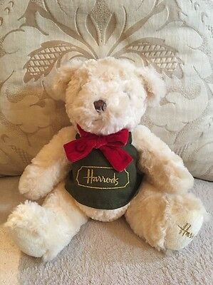 Harrods Teddy Bear Toy, Red Velvet Bow