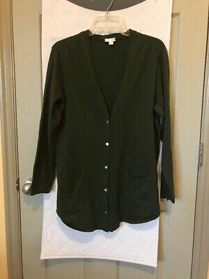 J. Jill  pastel green summer's edge long cardigan style top v-neck L ()