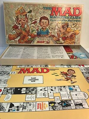 Vintage 1979 Parker Brothers THE MAD MAGAZINE Alfred Newman Board Game