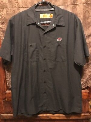 NEW BELGIUM BREWING CO Asheville & CO ~ XL ~ FAT TIRE Beer Delivery Work Shirt B