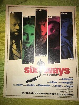 Six Ways To Sunday Movie Magazine Ad Deborah Harry Norman Reedus Isaac Hayes