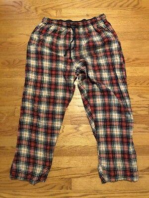 POLO Ralph Lauren Casual Flannel Lounge HORSE PLAID Pajama Pants Mens Sz L 👖#c4 comprar usado  Enviando para Brazil