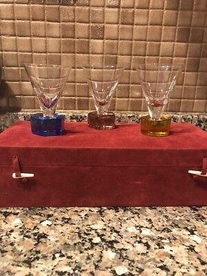 Port Wine Sherry (Venezia Fine Glassware Lot of 3 Cordial Sherry Port Wine Glasses Hand)