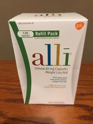Alli Diet Pills for Weight Loss, Orlistat 60 mg Capsules, 120 count Exp:12/20+