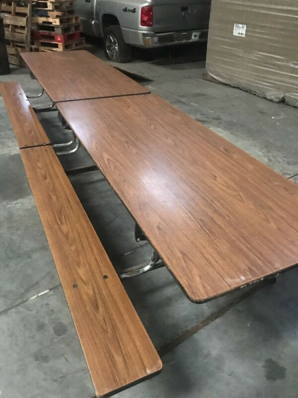 Mobile Folding Cafeteria Table 12 Ft. Long