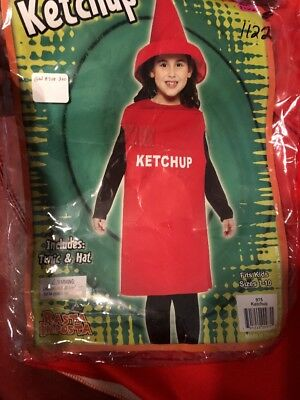 Ketchup Bottle Sizes (KETCHUP BOTTLE CONDIMENT COMICAL CHILD HALLOWEEN COSTUME GIRLS SIZE)