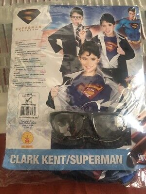 CLARK KENT/SUPERMAN RETURNS HALLOWEEN COSTUME RUBIE'S L 12-14 for 8-10 years!!!