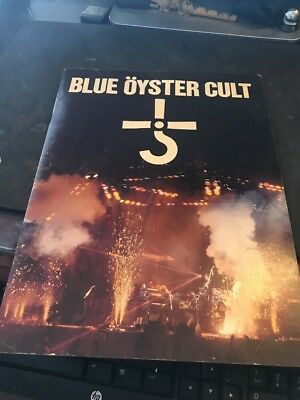 BLUE OYSTER CULT Early 1980 Tour Concert Program Book